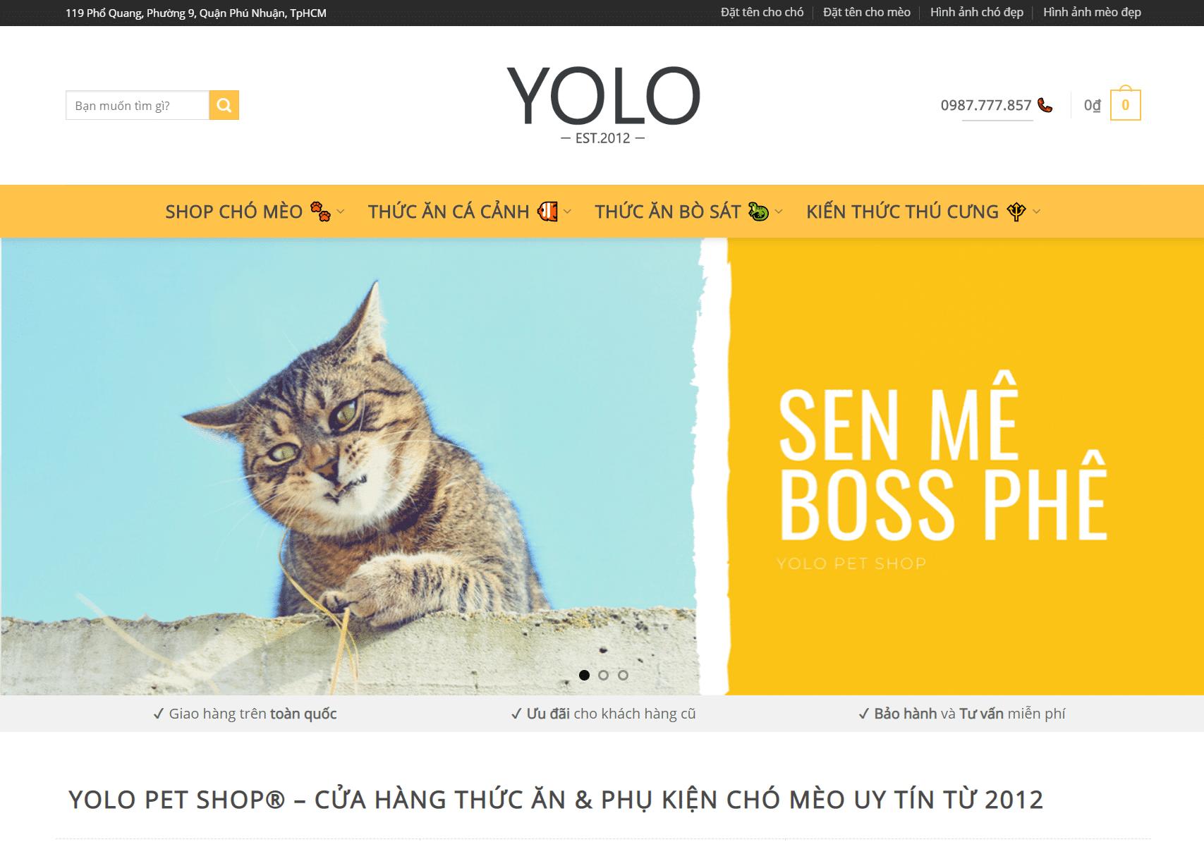 yolo pet shop thuc an va phu kien uy tin tu 2012