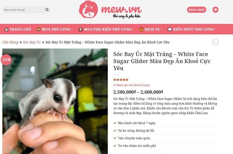 mew shop ban soc bay uc nhap khau